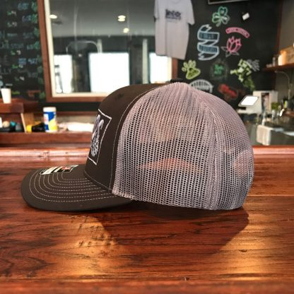 Trucker Hat black panel side view